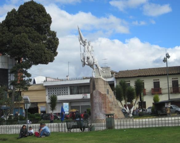 Ciudad.- Uno de los parques más representativos de Tulcán es el parque Isidro Ayora